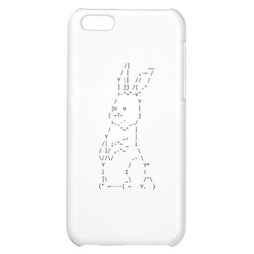 Arte feliz del conejito de Pascua ASCII