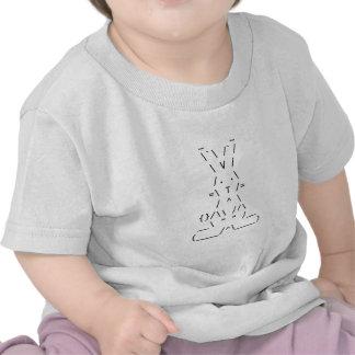 Arte feliz del conejito de Pascua ASCII Camisetas