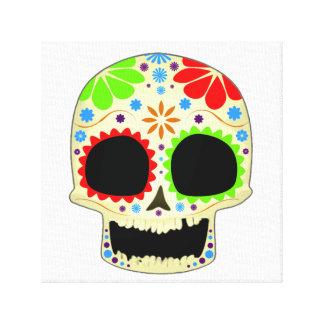 Arte feliz del cráneo del azúcar impresiones en lona