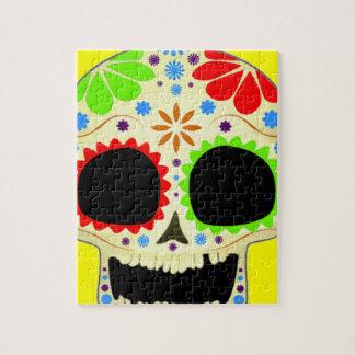 Arte feliz del cráneo del azúcar rompecabezas