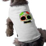 Arte feliz del cráneo del azúcar camisas de mascota