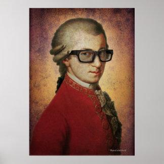 Arte feliz divertido de la música clásica de póster