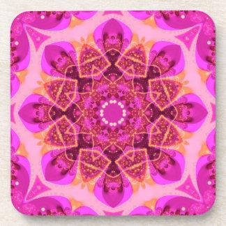 Arte femenino rosado de la mandala del placer: Sis Posavasos