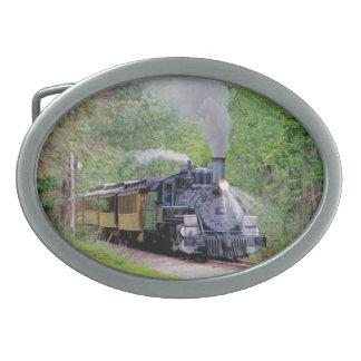 Arte ferroviario británico II del tren del vapor Hebilla De Cinturón Oval