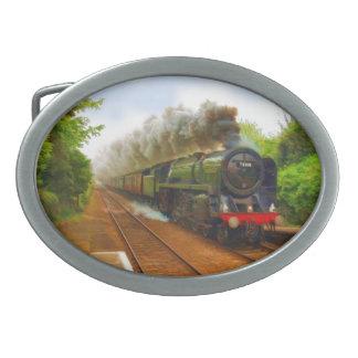 Arte ferroviario británico IV del tren del vapor Hebilla Cinturón Oval