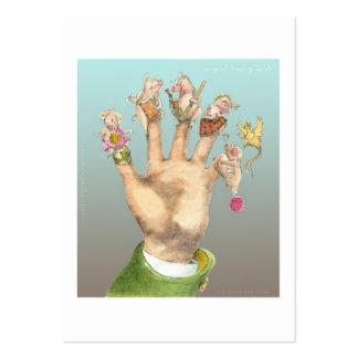arte final del cerdo con el texto tarjetas de visita