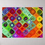 Arte fino del fractal de Brago-Mitchell del Póster