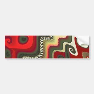 Arte fino del fractal de los muebles pegatina para auto