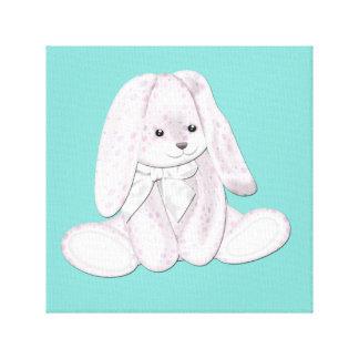 Arte flojo de la lona del bebé del conejito de la  lona envuelta para galerias