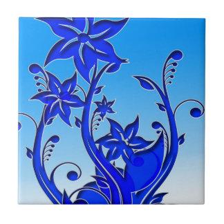 Arte floral azul azulejo ceramica