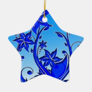 Arte floral azul ornato