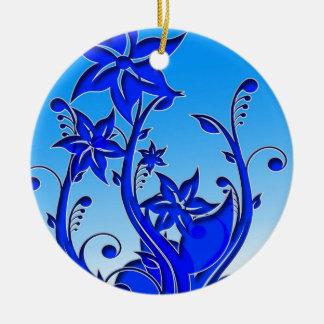 Arte floral azul ornamentos de reyes