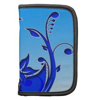 Arte floral azul organizadores