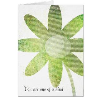 Arte floral banal tarjeta de felicitación