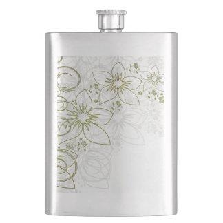 Arte floral blanco cantimplora