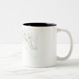 Arte floral blanco taza de café