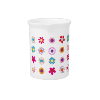 Arte floral bonito jarras de beber