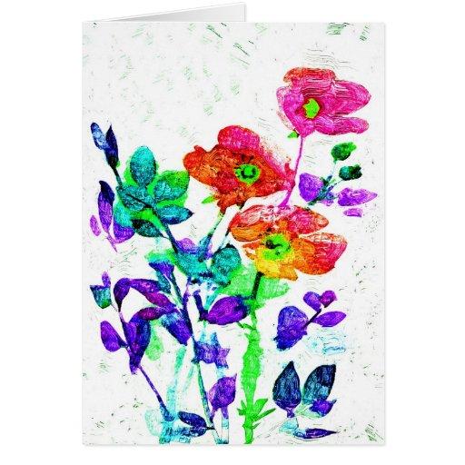 Arte floral bonito Notecards o tarjetas de felicit