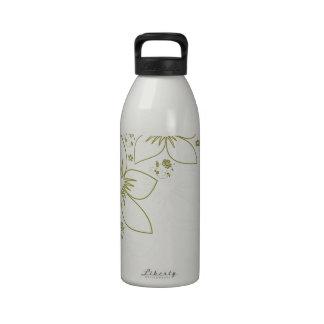 Arte floral botella de beber