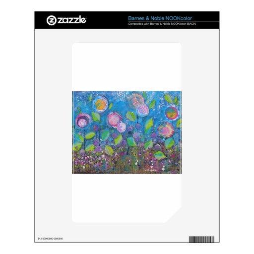 """Arte floral caprichoso - """"prospere """" NOOK color calcomanías"""