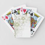 Arte floral cartas de juego
