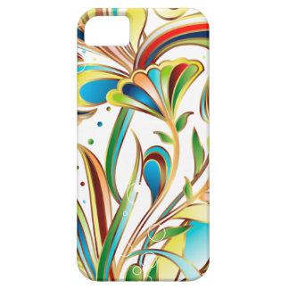 Arte floral coloreado extracto del vector iPhone 5 Case-Mate cobertura