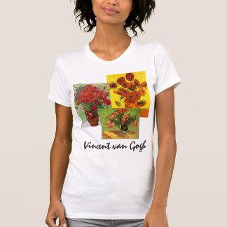 arte floral de 3 flores de diverso vintage de Van Tee Shirts