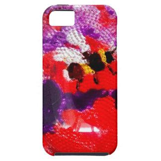 Arte floral de la abeja de la flor funda para iPhone 5 tough