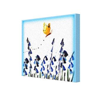 Arte floral de la mariposa de los Bluebells