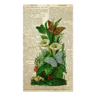 Arte floral de la mariposa en la página del tarjetas de visita