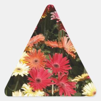 Arte floral de la oficina de la ducha del fiesta calcomania triangulo