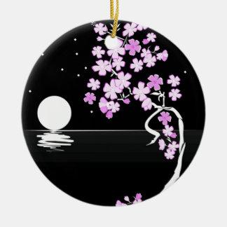 Arte floral de la pintura adorno