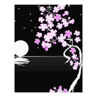 Arte floral de la pintura membrete a diseño