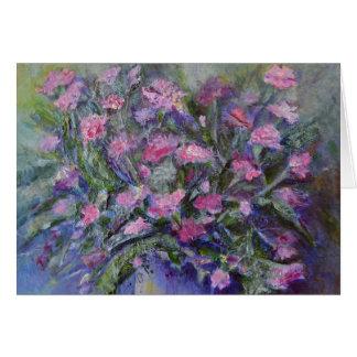 """Arte floral de los """"claveles"""" tarjeta pequeña"""