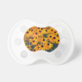 Arte floral de los Flor-amantes amarillos de las m Chupete De Bebe
