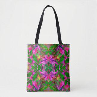 Arte floral del fractal de la bolsa de asas