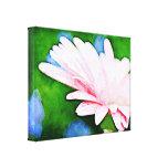 Arte floral del Gerbera rosado Impresión En Lona