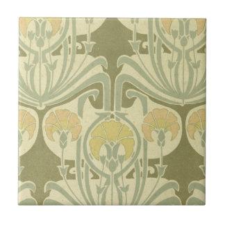arte floral del nouveau complejo del arte azulejo cuadrado pequeño