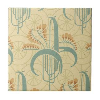 arte floral del nouveau del arte elegante azulejo cuadrado pequeño
