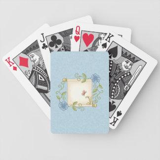 Arte floral del pixel de la voluta barajas de cartas