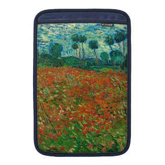 Arte floral del vintage del campo de la amapola de fundas para macbook air