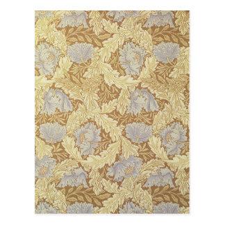 Arte floral del vintage del diseño de la glorieta postal