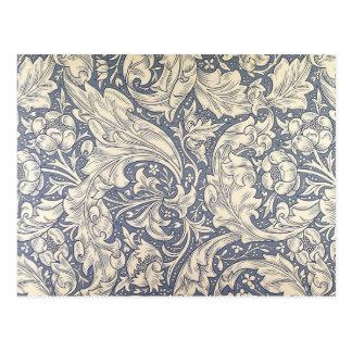 Arte floral del vintage del diseño de la margarita postal