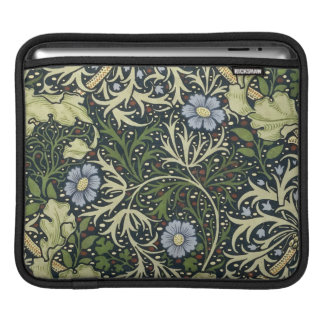 Arte floral del vintage del modelo de la alga fundas para iPads