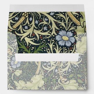 Arte floral del vintage del modelo de la alga sobres