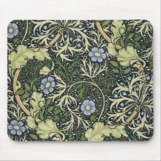 Arte floral del vintage del modelo de la alga tapete de ratón