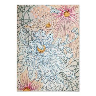Arte floral del vintage invitación 11,4 x 15,8 cm