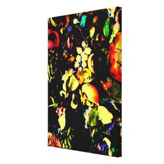 Arte floral del vintage lienzo envuelto para galerías