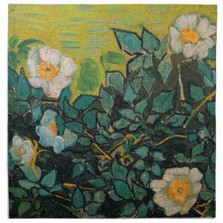 Arte floral del vintage salvaje de los rosas de servilletas imprimidas
