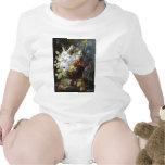Arte floral del vintage trajes de bebé